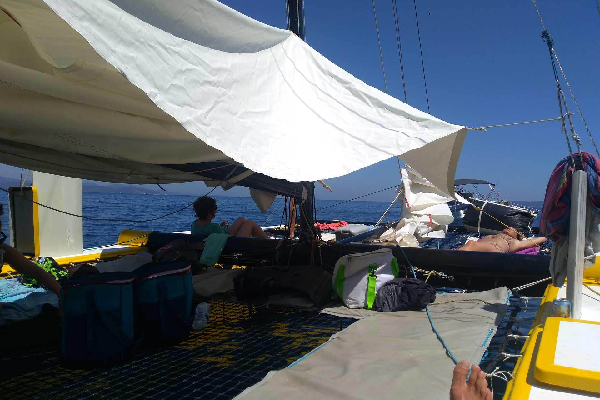 Farniente à bord du catamaran