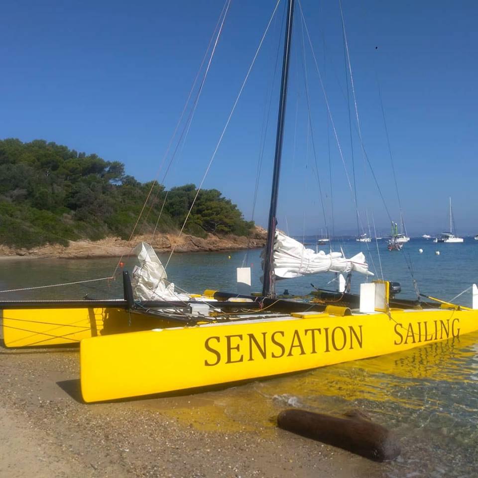 Pause baignade, sur la plage de Porquerolles